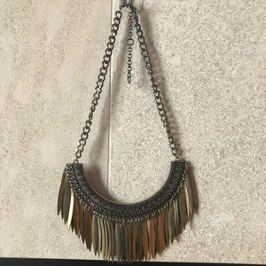 Urban Outfitters Statement Fringe Necklace